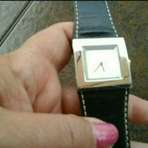 DKNY Stainless Steel / Leather Watch,  New